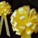 "10 LEMON YELLOW 8"" WEDDING PULL PEW BOWS FOR BRIDAL CAKE GIFT BASKET DECORCATION PB042"