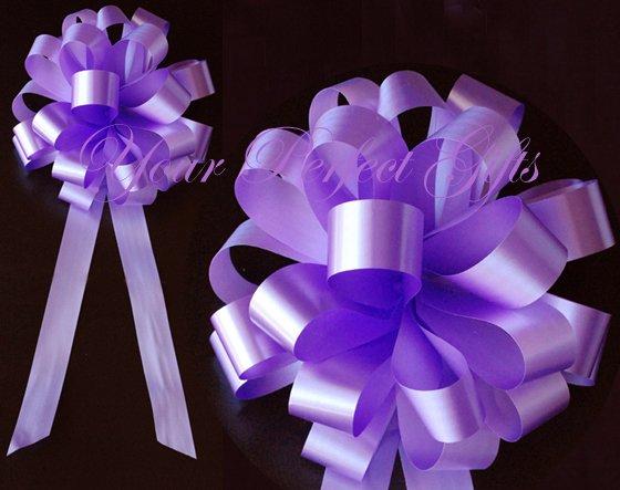 "10 LAVENDER PURPLE 8"" WEDDING PULL PEW BOWS FOR BRIDAL CAKE GIFT BASKET DECORCATION PB039"