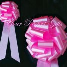 "10 CANDY PINK 9"" LARGE WEDDING PULL PEW BOWS BRIDAL CAKE GIFT BASKET DECORATION PB122"