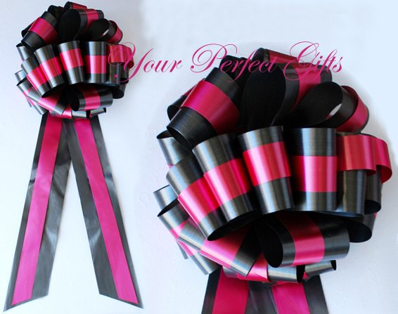 "10 BLACK APPLE RED TWO LAYER 9"" EXTRA WIDE WEDDING PULL PEW BOWS BRIDAL CAKE GIFT BASKET DECORCATION"