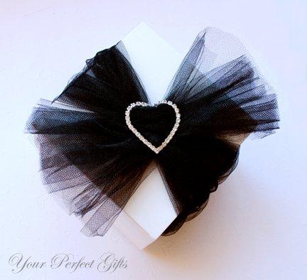 "24 HEART 1.5"" Silver Diamante Rhinestone Crystal Buckle Sliders For Wedding Invitation BK025"