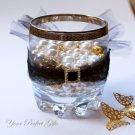 24 SQUARE Gold Diamante Rhinestone Ribbon Buckle Sliders For Wedding Invitation BK031