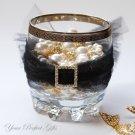 12 LARGE SQUARE 20mm Gold Diamante Rhinestone Crystal Buckle Sliders For Wedding Invitation BK039