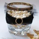 24 CIRCLE ROUND 22mm Gold Diamante Rhinestone Crystal Buckle Sliders Wedding Invitation BK029