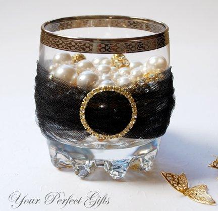 "12 ROUND 1.3"" Gold Large Diamante Rhinestone Ribbon Buckle Sliders For Wedding Invitation BK030"