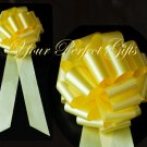 "10 LEMON YELLOW 9"" LARGE WEDDING PULL PEW BOWS FOR BRIDAL CAKE GIFT BASKET DECORATION PB111"