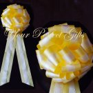 "10 WHITE YELLOW TWO LAYER 9"" EXTRA WIDE WEDDING LACE PULL PEW BOW BRIDAL CAKE GIFT  DECORCATION"
