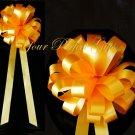 "10 ORANGE 9"" WEDDING PULL PEW BOWS FOR BRIDAL CAKE GIFT BASKET DECORATION PB147"