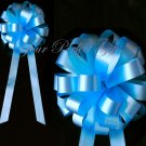 "10 TURQUOISE BLUE 8"" WEDDING PULL PEW BOWS FOR BRIDAL CAKE GIFT BASKET DECORCATION PB033"