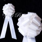 "10 WHITE 9"" LARGE WEDDING PULL PEW BOWS BRIDAL CAKE GIFT BASKET DECORATION PB073"