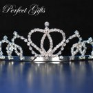 "1.75"" Swarovski Crystal Rhinestone Bridal Pageant Wedding Party Tiara Comb Crown Headband"
