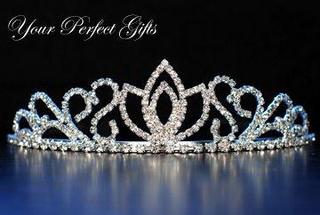 "1.75"" Swarovski Crystal Rhinestone Bridal Pageant Wedding Party Tiara Comb Crown Headband"