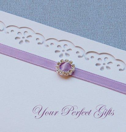 12 ROUND Silver Diamante Rhinestone Ribbon Buckle Sliders For Wedding Invitation BK002