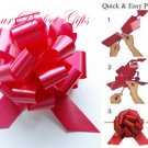 "10 APPLE RED 5"" WEDDING PULL PEW BOWS FOR BRIDAL CAKE GIFT BASKET DECORCATION"