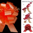 "10 ORANGE 5"" WEDDING PULL PEW BOWS FOR BRIDAL CAKE GIFT BASKET DECORCATION PB165"