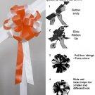 """10 BRIGHT ORANGE WHITE 8"""" WEDDING PULL PEW BOW FOR BRIDAL CAKE GIFT BASKET DECORCATION"""
