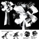 "10 WHITE BLACK 8"" WEDDING PULL PEW BOWS FOR BRIDAL CAKE GIFT BASKET DECORCATION PB024"