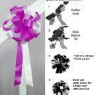 "10 WHITEFUCHSIA PINK 8"" WEDDING PULL PEW BOWS FOR BRIDAL CAKE GIFT BASKET DECORCATION"
