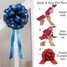 "10 ROYAL BLUE SILVER 8"" TWO LAYER WEDDING PULL PEW BOWS FOR BRIDAL CAKE GIFT DECORCATION PB158"