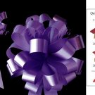 "10 DARK PURPLE 8"" WEDDING PULL PEW BOWS FOR BRIDAL CAKE GIFT BASKET DECORCATION PB011"