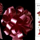 "10 BURGUNDY RED 8"" WEDDING PULL PEW BOWS FOR BRIDAL CAKE GIFT BASKET DECORCATION PB034"
