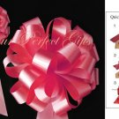 "10 SOFT RED ROSE 8"" WEDDING PULL PEW BOWS FOR BRIDAL CAKE GIFT BASKET DECORCATION PB006"