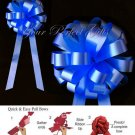 "10 ROYAL BLUE 8"" WEDDING PULL PEW BOWS FOR BRIDAL CAKE GIFT BASKET DECORCATION PB035"
