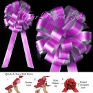 "10 FUCHSIA HOT PINK SILVER 8"" TWO LAYER WEDDING PULL PEW BOWS BRIDAL CAKE GIFT BASKET DECORCATION"