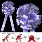 "10 LAVENDER PURPLE SILVER 8"" TWO LAYER WEDDING PULL PEW BOWS FOR BRIDAL CAKE GIFT BASKET DECORCATION"