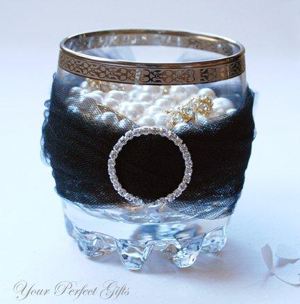 "110 ROUND 1.3"" Silver Large Diamante Rhinestone Ribbon Buckle Sliders For Wedding Invitation Card"
