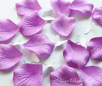 1000 LAVENDER PURPLE SILK ROSE PETALS WEDDING DECORATION FLOWER FAVOR RP015