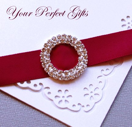 1 pc Two Row ROUND CIRCLE Silver Diamante Rhinestone Crystal Buckle Slider Wedding Invitation BK038