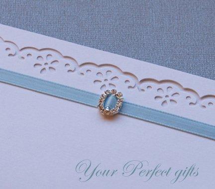 1 pc OVAL Silver Diamante Rhinestone Crystal Buckle Slider For Wedding Invitation BK052