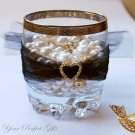 1 pc HEART Gold Diamante Rhinestone Crystal Buckle Sliders For Wedding Invitation BK035