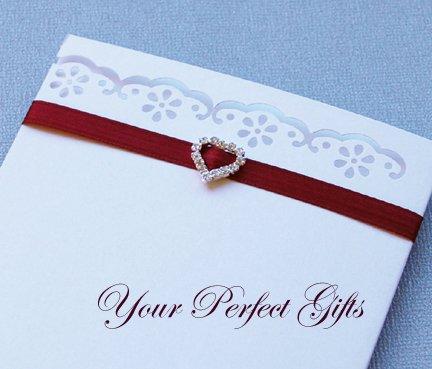 1 pc HEART Silver Diamante Rhinestone Crystal Buckle Sliders For Wedding Invitation BK011