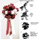 "10 BURGUNDY RED IVORY CHOCOLATE BROWN 8"" WEDDING PULL PEW BOW BRIDAL CAKE GIFT BASKET DECORCATION"