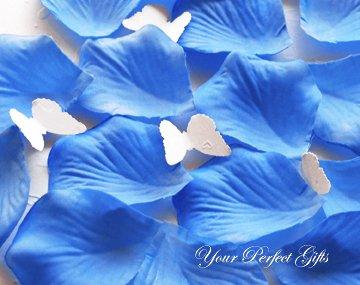 1000 TURQUOISE BLUE SILK ROSE PETALS WEDDING DECORATION FLOWER FAVOR RP026