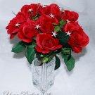 6 pcs Swarovski Crystal Rhinestone Starfish Bouquet Flower Centerpiece Jewelry BJ001