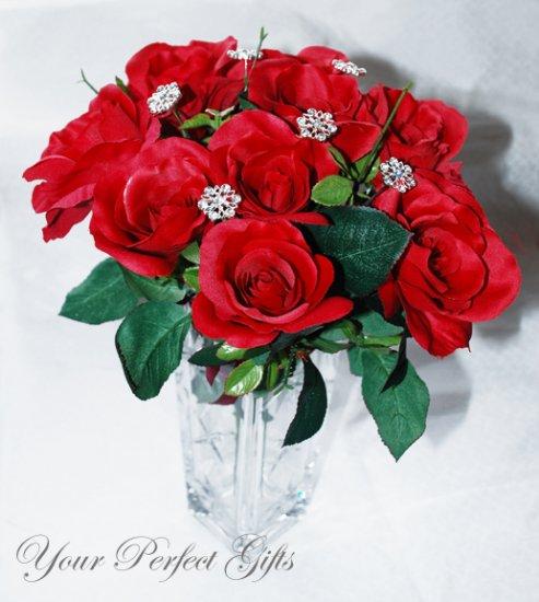 12 pcs Swarovski Crystal Rhinestone Flower Bouquet Flower Center�piece Jewelry BJ003