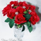 12 pcs Swarovski Crystal Rhinestone Flower Bouquet Flower Centerpiece Jewelry BJ003