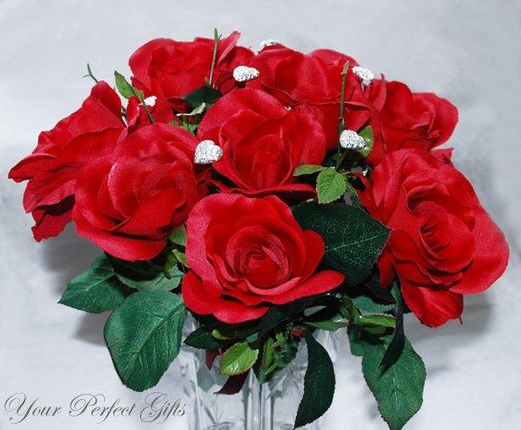 Swarovski Crystal Rhinestone Heart Bouquet Flower Center�piece Jewelry BJ002