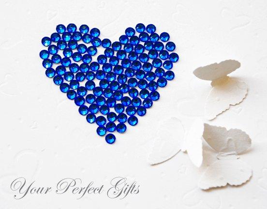 500 Acrylic Faceted Flat Back Dark Royal Blue Rhinestone 5mm Wedding Invitation scrapbooking LR029