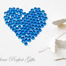 500 Round Faceted Flat Back Sapphire Blue Rhinestone 5mm Wedding Invitation scrapbooking LR072