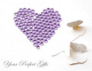 1000 Acrylic Flat Back Lavender Light Purple Rhinestone 3mm Wedding Invitation scrapbooking LR010