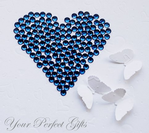 1000 Acrylic Flat Back Rhinestone 3mm Dark Indigo Blue Wedding Invitation scrapbooking LR089