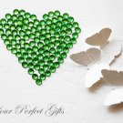 100 Acrylic Round Faceted Flat Back Rhinestone 7mm Green Wedding Invitation scrapbooking LR044