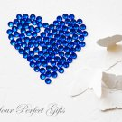 100 Acrylic Faceted Flat Back Rhinestone 7mm Royal Dark Blue Wedding Invitation scrapbooking LR032