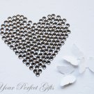 100 Faceted Flat Back Rhinestone 7mm Black Diamond/Gray Wedding Invitation scrapbooking LR067
