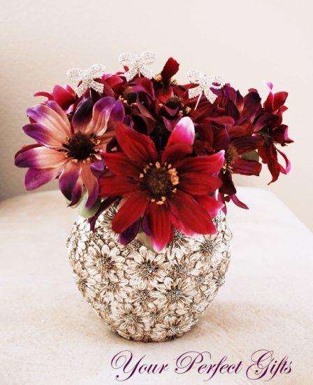 6 pcs Swarovski Crystal Rhinestone Bow Shape  Bouquet Flower Center�piece Jewelry