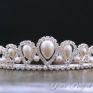 Swarovski Crystal Rhinestone & Pearl Bridal Pageant Wedding Party Tiara Comb Crown Headband Royal